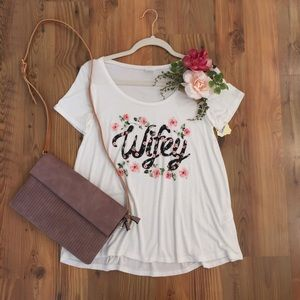 Floral Wifey Tee